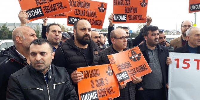'İhlalli geçiş' cezalarına Yenikapı'da protesto