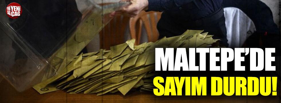 Maltepe'de oyların sayımı durdu!
