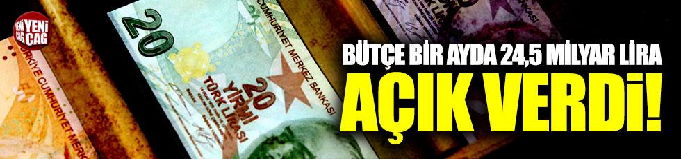 Bütçe bir ayda 24,5 milyar lira açık verdi
