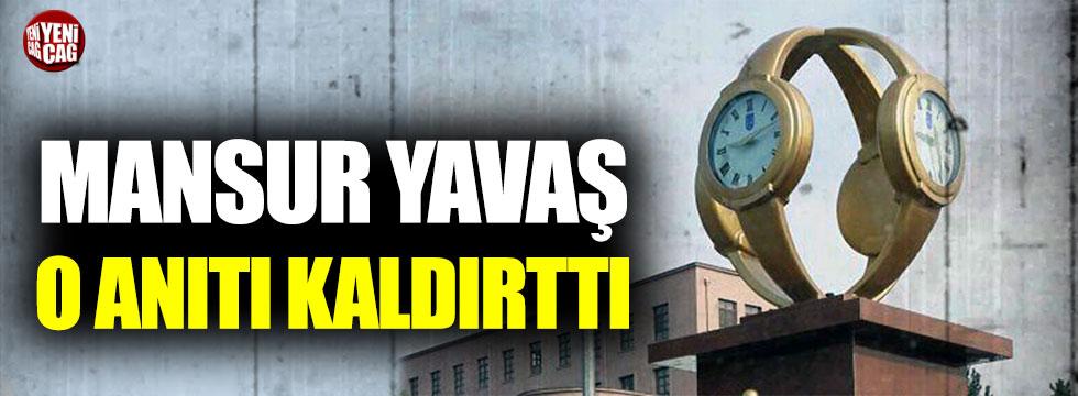 Mansur Yavaş tartışılan kol saati anıtını kaldırdı