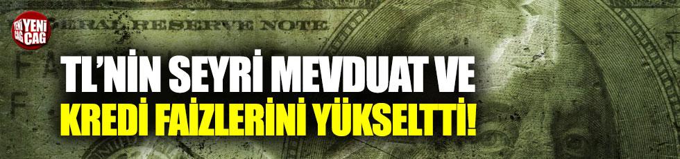 Türk Lirası'nın seyri mevduat ve kredi faizlerini yükseltti