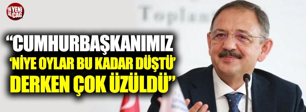 """Özhaseki: """"Cumhurbaşkanımız 'niye oylar bu kadar düştü' derken çok üzüldü"""""""