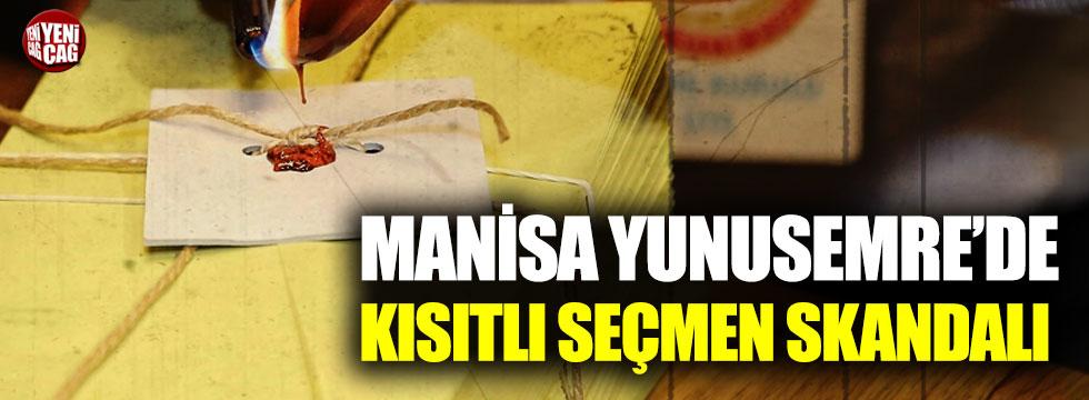 Manisa Yunusemre'de kısıtlı seçmen skandalı
