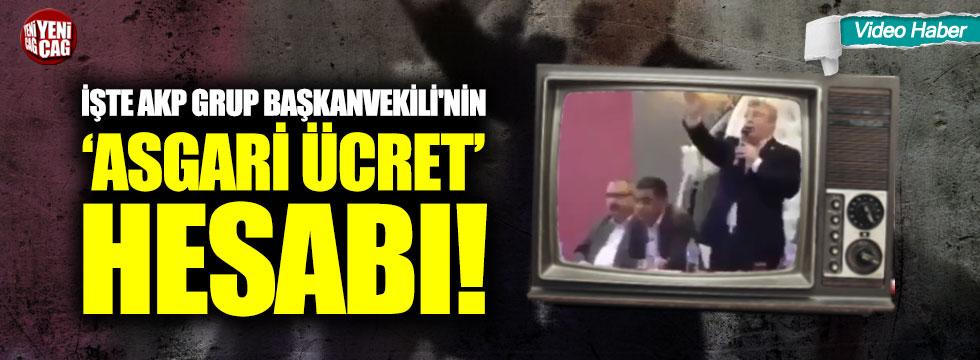İşte AKP Grup Başkanvekili'nin 'asgari ücret' hesabı