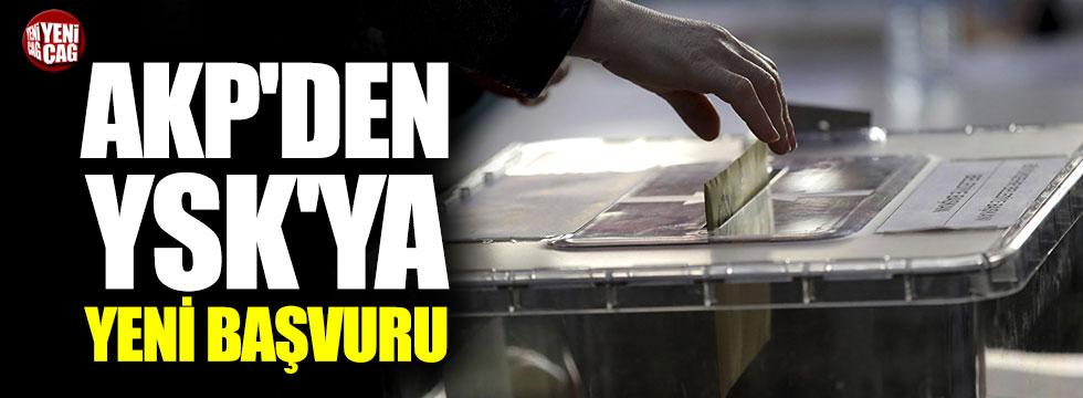 AKP'den YSK'ya yeni başvuru