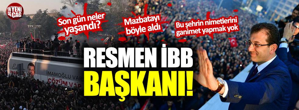 """Ekrem İmamoğlu görevini devraldı: """"Bu şehrin nimetlerini ganimet yapmak yok"""""""