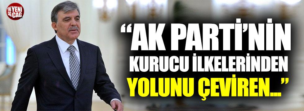 Abdullah Gül'den AKP'ye 'Kurucu ilke' tepkisi