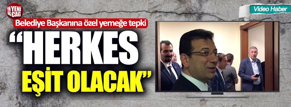 İşte İmamoğlu'nun belediyedeki ilk icraati!