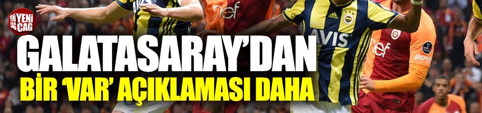 Galatasaray'dan yeni 'VAR' açıklaması