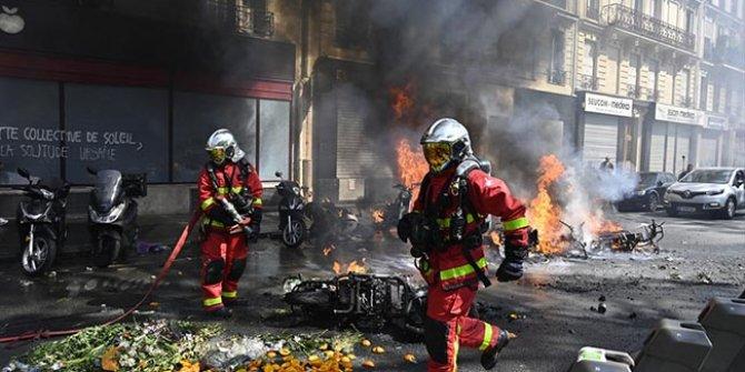 Fransa'da ortalık karıştı: 128 kişi gözaltında
