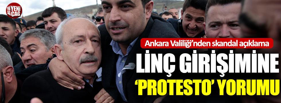 Ankara Valiliği'nden linç girişimine 'Protesto' yorumu