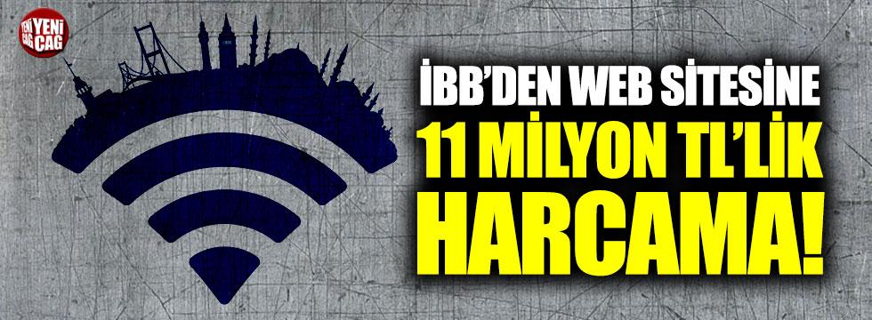 İBB'den web sitesine 11 milyon TL'lik harcama!