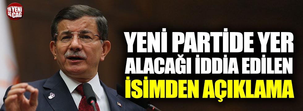 Davutoğlu'nun partisinde olacağı söylenen Dinçer'den açıklama geldi