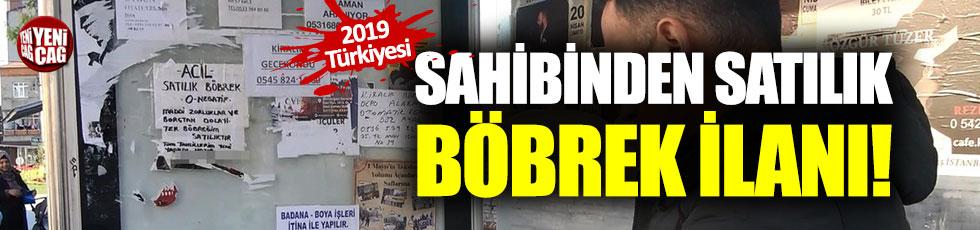 İstanbul'da 'sahibinden satılık böbrek' ilanı
