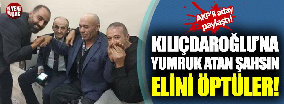 Kılıçdaroğlu'na yumruk atan şahsın elini öptüler
