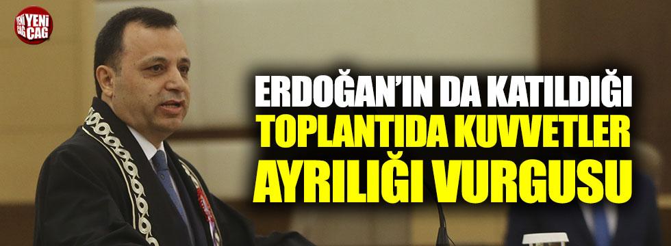 AYM Başkanı Arslan'dan kuvvetler ayrılığı vurgusu