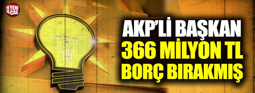 Gebze'de AKP'li Başkan 366 milyon TL borç bırakmış