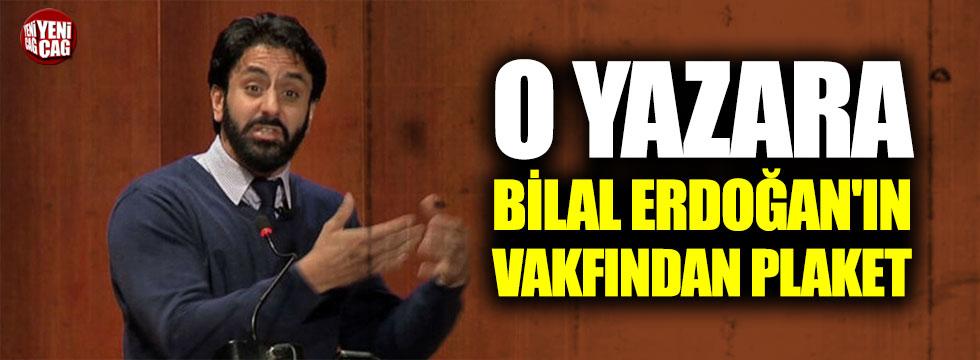 Atatürk'e 'şeytan' diyen yazara Bilal Erdoğan'ın vakfından plaket