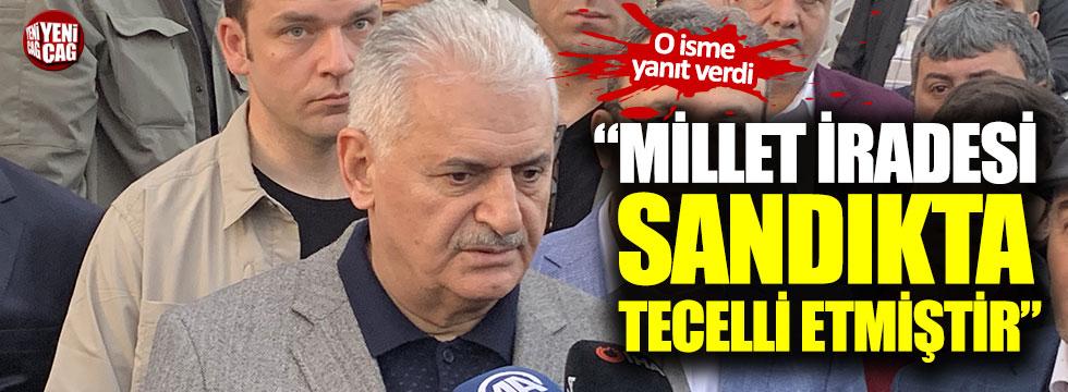 """""""Millet iradesi sandıkta tecelli etmiştir"""""""
