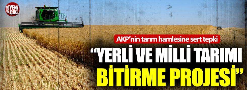 CHP'li Gürer'den AKP'nin tarım projesine sert tepki