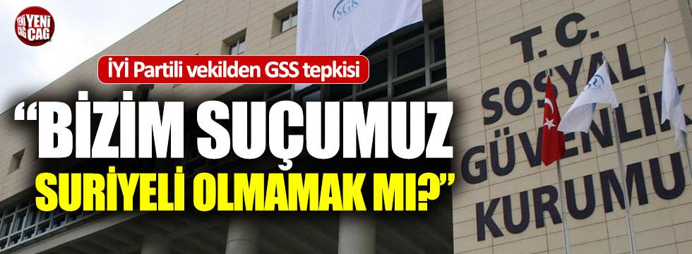 İYİ Partili Türkkan: Bizim suçumuz Suriyeli olmamak mı?