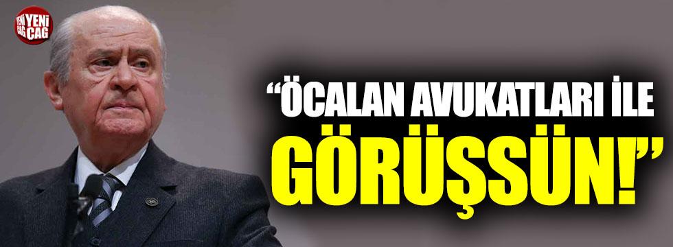 """Devlet Bahçeli: """"Öcalan avukatları ile görüşsün"""""""