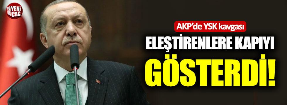 AKP'de YSK kavgası: Eleştirenlere kapıyı gösterdi
