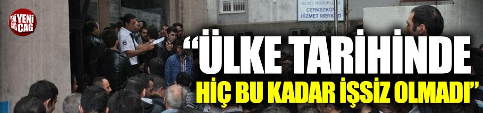 """Aykut Erdoğdu: """"Ülke tarihinde hiç bu kadar işsiz olmadı"""""""