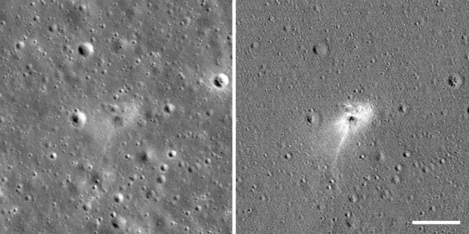 İsrail'in Ay'a çakılan uzay aracı görüntülendi!