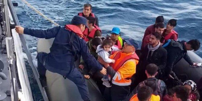 Yunanistan'a geçmek isteyen 35 kaçak göçmen yakalandı