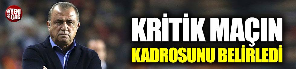 Fatih Terim, Başakşehir maçı kadrosunu belirledi