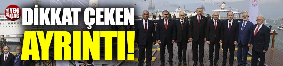Samsun'daki liderler karesinde dikkat çeken ayrıntı