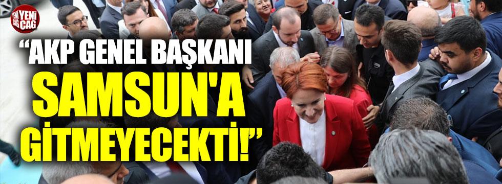Akşener, Samsun'da konuştu