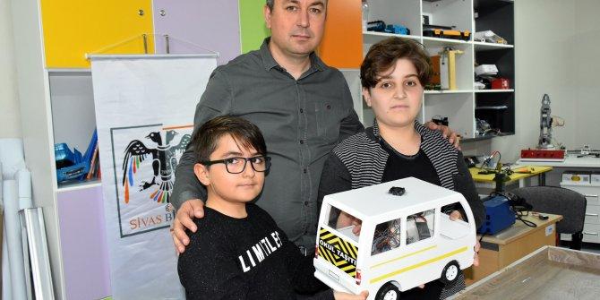 Araçlarda unutulan çocuklar için, akıllı havalandırma projesi
