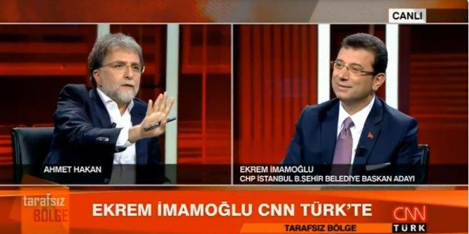 Ekrem İmamoğlu ile Ahmet Hakan arasında canlı yayında gerginlik