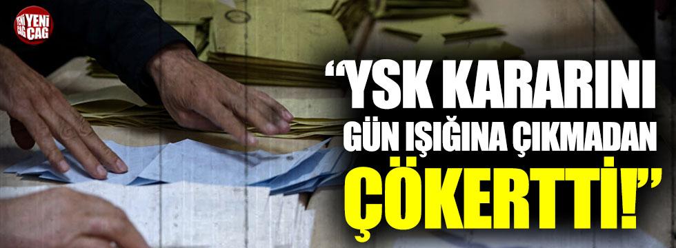 """İbrahim Kaboğlu: """"YSK, kararını gün ışığına çıkmadan çökertti"""""""