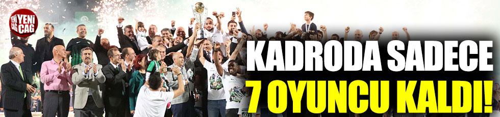 Denizlispor'un kadrosunda sadece 7 futbolcu kaldı!