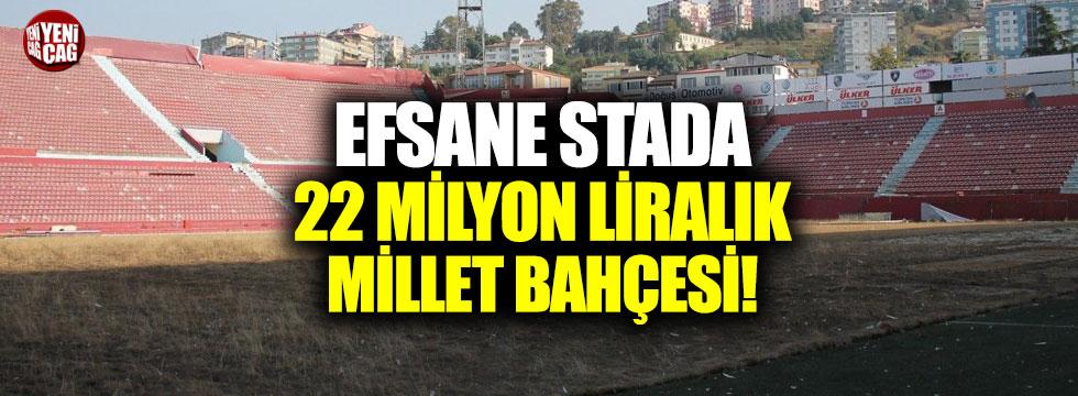 Efsane stada 22 milyon liralık millet bahçesi!