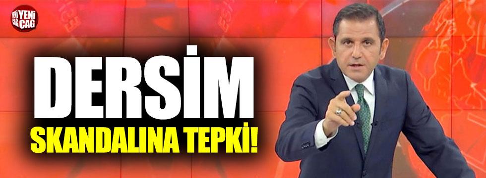 Fatih Portakal'dan 'Dersim' skandalına tepki