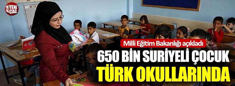 Milli Eğitim Bakanlığı açıkladı: 650 bin Suriyeli çocuk Türk okullarında
