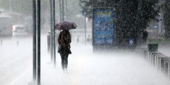 İstanbul'da beklenen yağış geldi