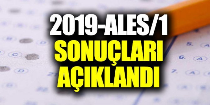 ALES 2019 sonuçları açıklandı ÖSYM Sınav sonuçları görüntüleme