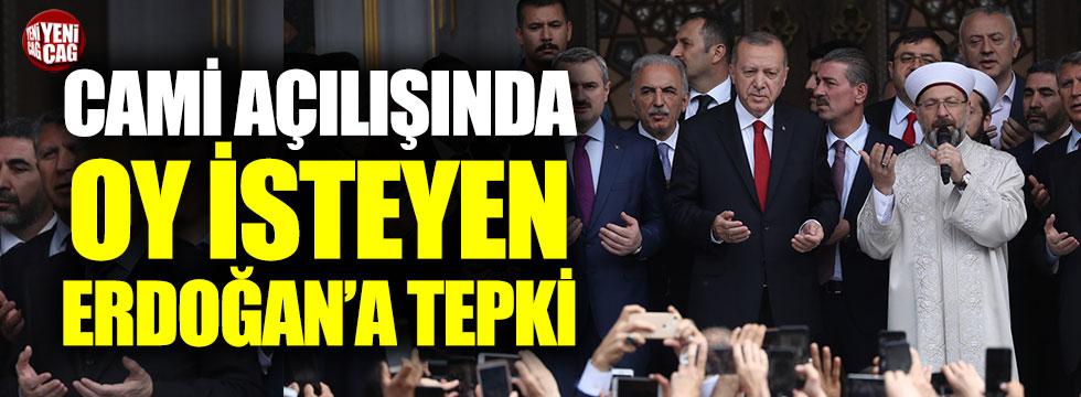 Cami açılışında oy isteyen Erdoğan'a İYİ Parti'den tepki