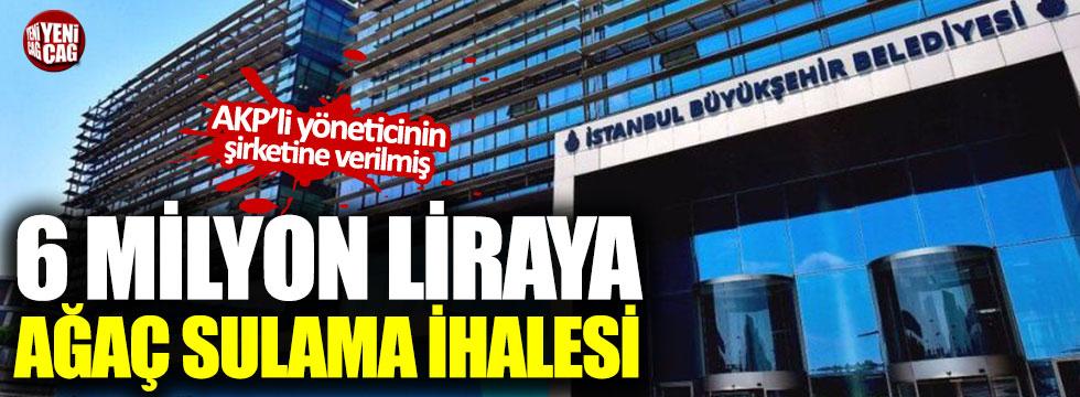 İBB'nin 6 milyon TL'lik sulama ihalesi AKP'li isme verildi