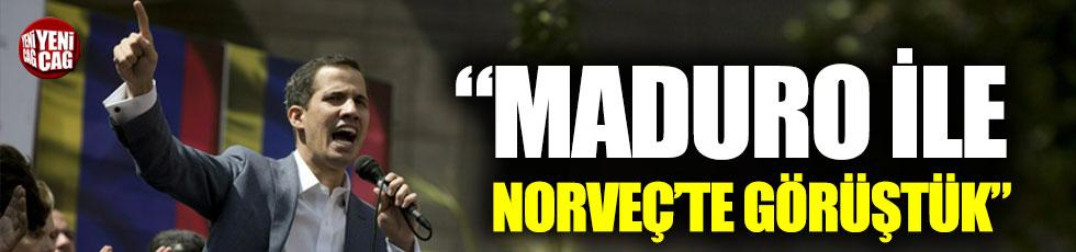 """Guaido: """"Maduro hükümeti ile Norveç'te görüştük"""""""