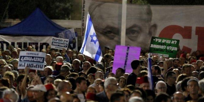İsrail'de Netenyahu protestosu