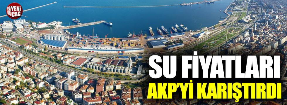 Samsun'daki su zammı AKP'yi karıştırdı