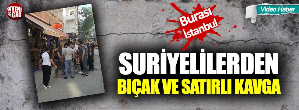 İstanbul'da Suriyeli dehşeti: Bıçak ve satırlarla kavga ettiler!