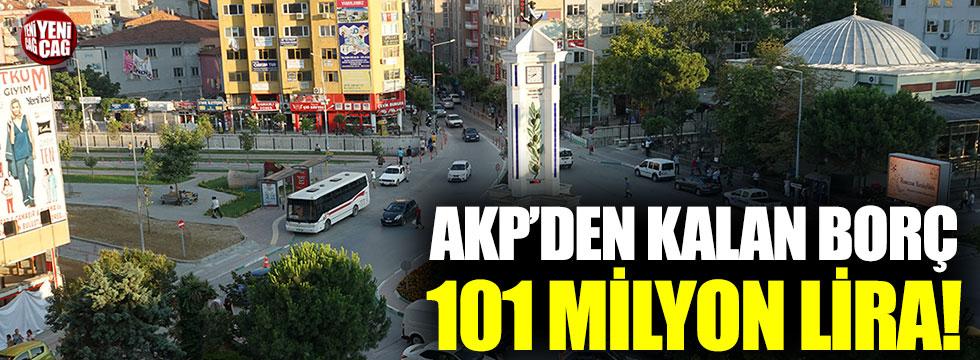 Gemlik Belediyesi'nin borcu 101 milyon lira!