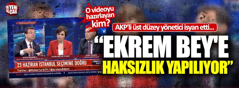 """AKP'li yönetici isyan etti: """"Ekrem Bey'e haksızlık yapılıyor"""""""